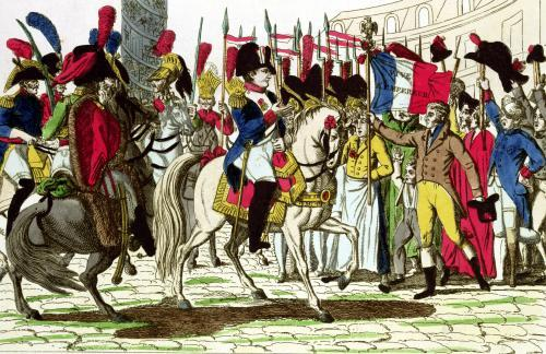 The People of Paris Acclaiming Napoleon by French School