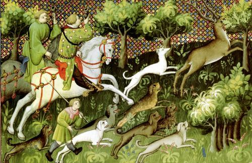 Stag Hunting from a book by Gaston Phebus de Foix by French School