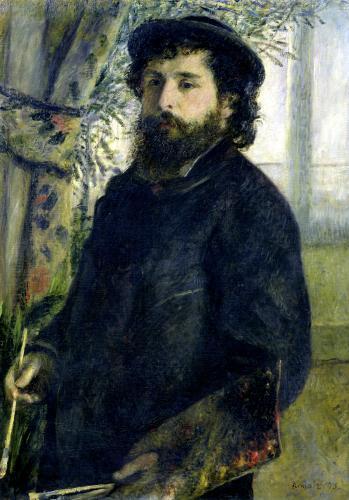 Portrait of Claude Monet 1875 by Pierre Auguste Renoir