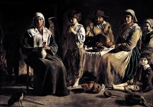 Peasant Family in an Interior c.1643 by Louis Le Nain
