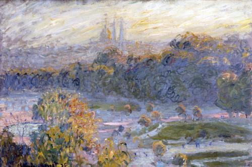 The Tuileries (study) 1875 by Claude Monet