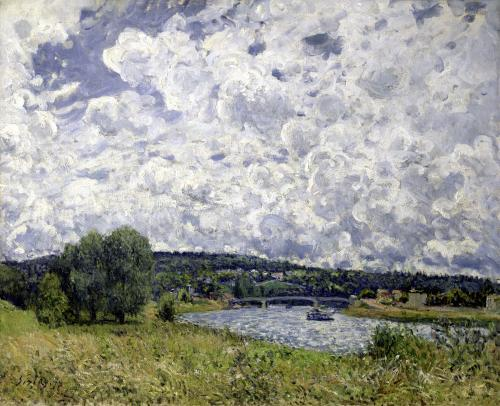 The Seine at Suresnes 1877 by Alfred Sisley