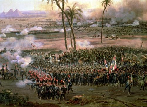 The Battle of the Pyramids 1806 by Louis Lejeune