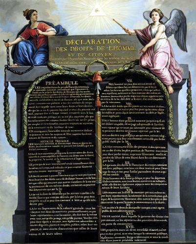 Declaration of the Rights of Man and Citizen 1789 by French School