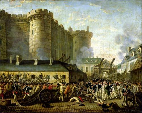 The Taking of the Bastille 14 July 1789 by French School