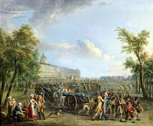 The Pillage of the Invalides 1789 by Jean-Baptiste Lallemand