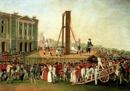 The Execution of Marie-Antoinette 1793 by Danish School