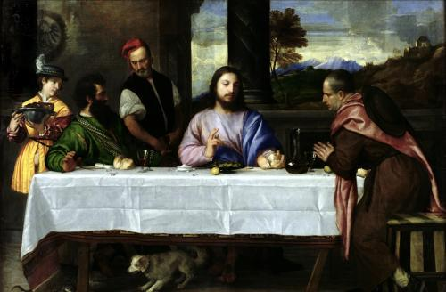 The Supper at Emmaus c.1535 by Titian