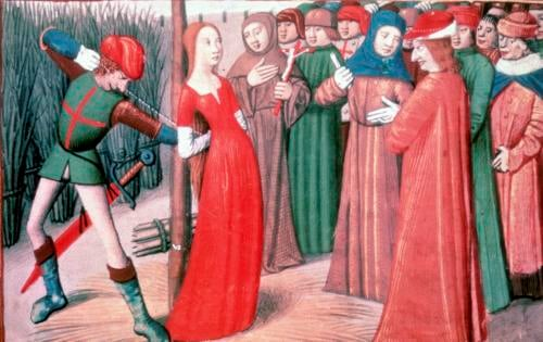 Joan of Arc at the stake Martial of Paris by French School