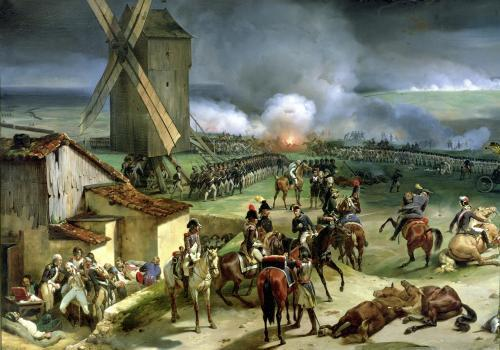Battle of Valmy 1835 (I) by Jean Baptiste Marie Mauzaisse