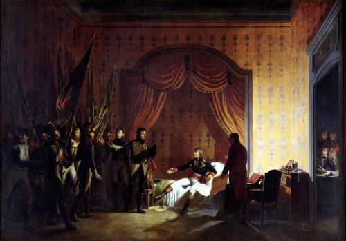 General Bonaparte Receiving Captured Austro-Sardinian Flags 1796 by Adolphe Roehn