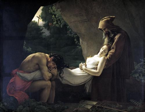 The Tomb of Atala 1808 by Anne Louis Girodet de Roucy-Trioson