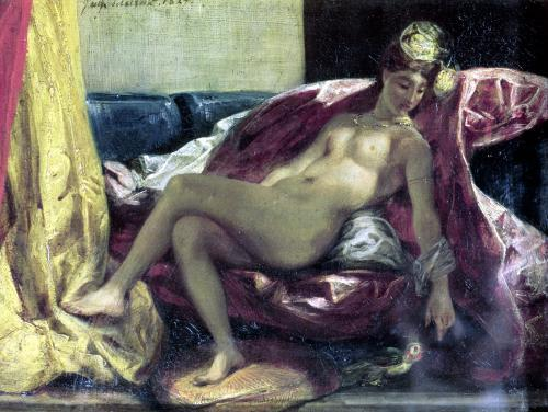Reclining Odalisque 1827 by Eugene Delacroix