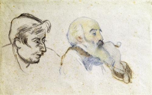 Portrait of Pissarro by Gauguin & Portrait of Gauguin by Pissarro by Gauguin & Pissarro