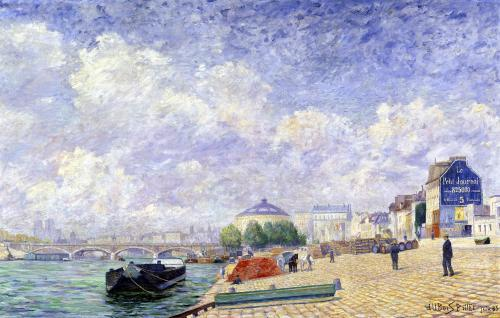 The Seine at Bercy 1885 by Albert Dubois-Pillet