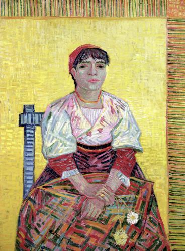 The Italian' Agostina Segatori 1887 by Vincent Van Gogh