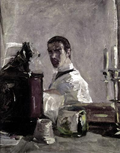 Self Portrait 1880 by Henri de Toulouse-Lautrec