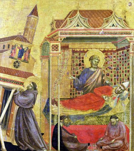 The Vision of Pope Innocent III c.1295 by Giotto di Bondone