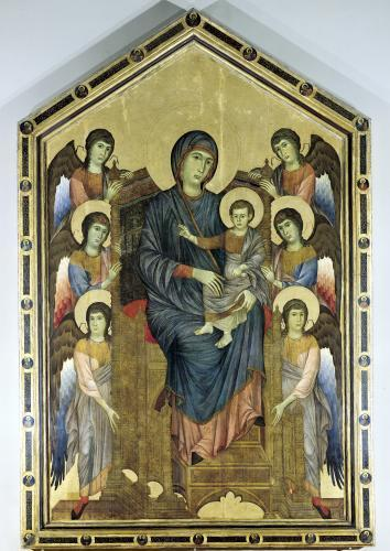 The Virgin and Child in Majesty surrounded by Six Angels c.1270 by Giovanni Cimabue