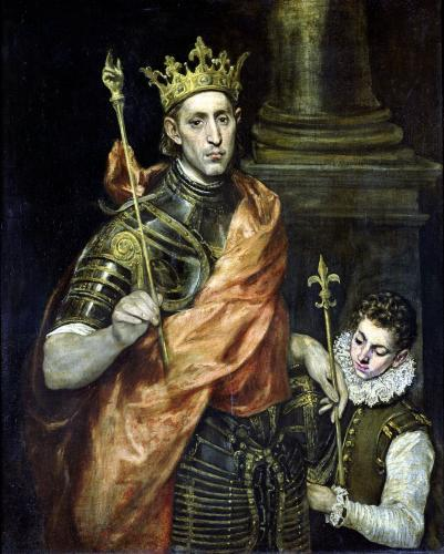St. Louis and his Page c.1585 by El Greco