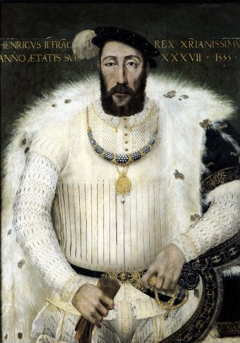 Henri II King of France 1555 by French School