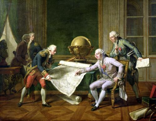 Louis XVI Giving Instructions to La Perouse 1817 by Nicolas Andre Monsiau