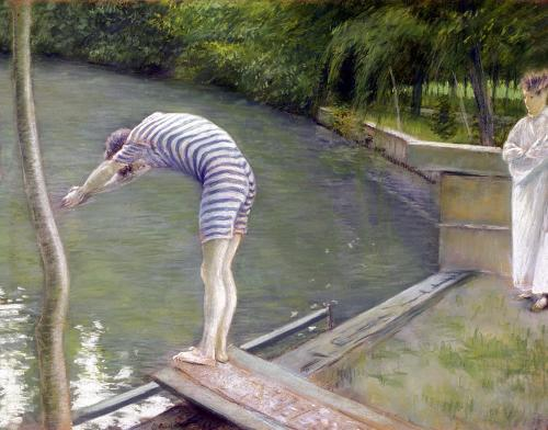 The Bather 1877 by Gustave Caillebotte
