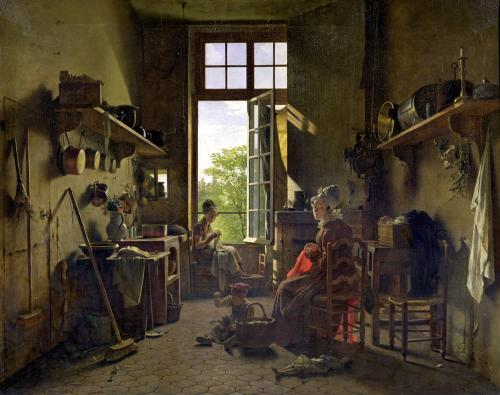 Interior of a Kitchen 1815 by Michel-Martin Drolling