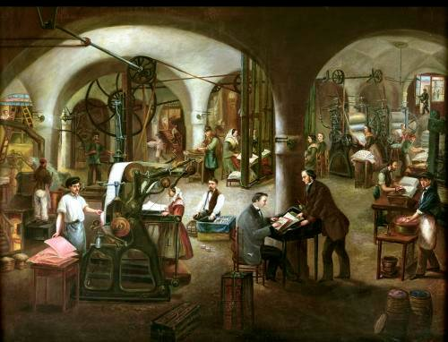 Factory in the Rue d'Aubagne 1861 by Cornis