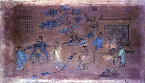 Scene from the life of Confucius and his disciples Qing Dynasty by China