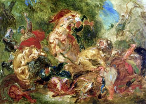 Study for The Lion Hunt 1854 by Eugene Delacroix