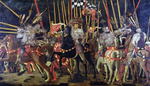 The Battle of San Romano c.1456 by Paolo Uccello