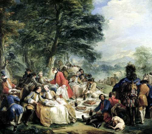 The Hunt Lunch 1737 by Charles Andre Van Loo