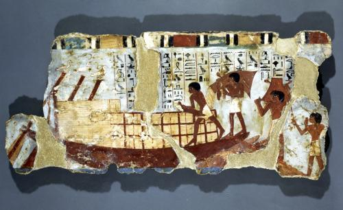 Loading grain from the Tomb of Unsou East Thebes New Kingdom by Egyptian Art