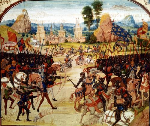 Battle of Poitiers 1365 by Anonymous