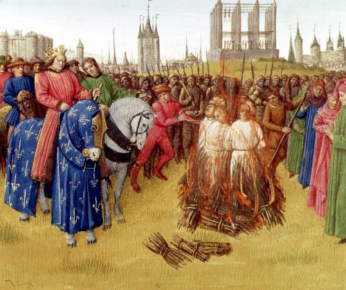 Supplication of the heretics by Jean Fouquet
