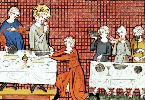 St. Louis Feeding the Poor by G. de Saint Pathus by French School