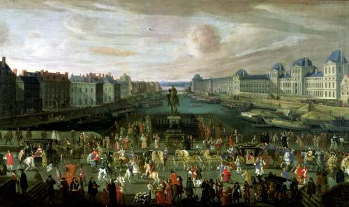 View of the Pont Neuf and the Chateau du Louvre 1665 by French School
