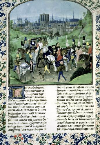 Entry of Young Louis II of Anjou into Paris by French School
