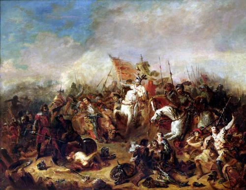 The Battle of Hastings in 1066 by Francois Hippolyte Debon