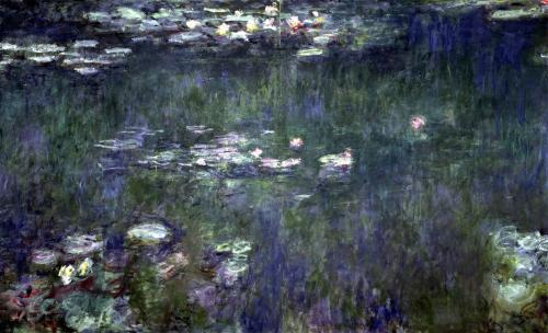 Waterlilies' Green Reflections 1914 by Claude Monet