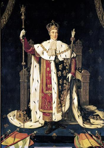 Portrait of Charles X in Coronation Robes 1829 by Jean-Auguste-Dominique Ingres