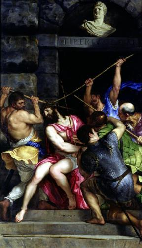 The Crowning with Thorns 1540 by Titian