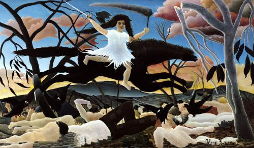 War or the Ride of Discord 1894 by Henri Rousseau