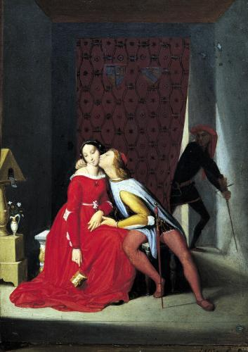 Gianciotto Discovers Paolo and Francesca 1814 by Jean-Auguste-Dominique Ingres