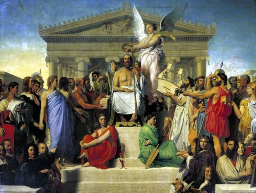 Apotheosis of Homer 1827 by Jean-Auguste-Dominique Ingres