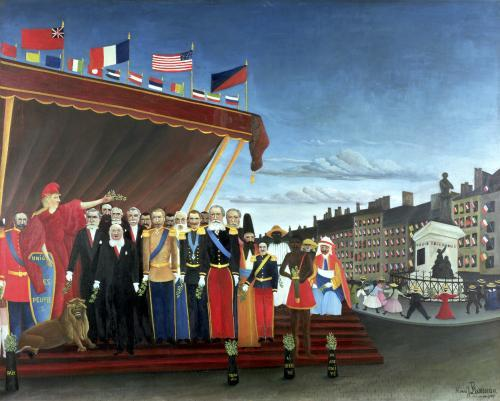 Representatives of the Forces greeting the Republic as a Sign of Peace 1907 by Henri Rousseau