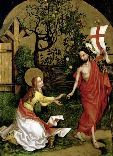 Altarpiece of the Dominicans' Noli Me Tangere c.1470 by Martin Schongauer