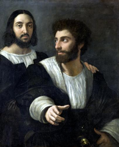 Self Portrait with a Friend by Raphael
