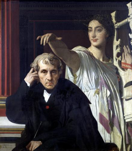 Portrait of the Italian Composer Cherubini and the Muse of Lyrical Poetry 1842 by Jean-Auguste-Dominique Ingres